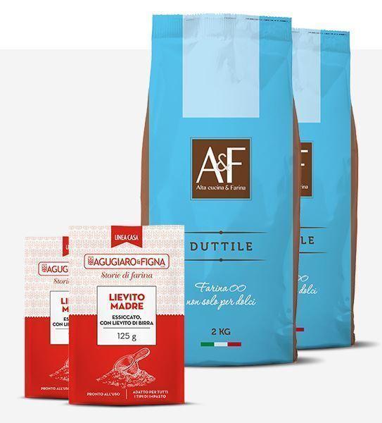 Immagine di Duttile Box 2 sacchetti di Farina + 2  sacchetti di Lievito