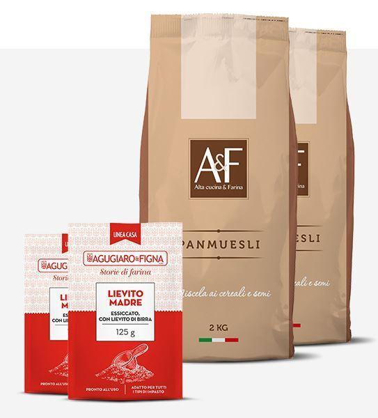 Immagine di Panmuesli Box 2 sacchetti di Farina + 2 sacchetti di Lievito