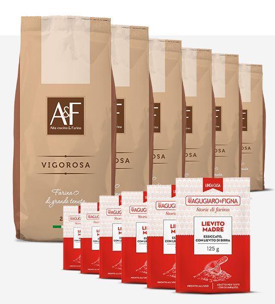 Immagine di Vigorosa Box 6 sacchetti di Farina + 6 sacchetti di Lievito Madre Essiccato